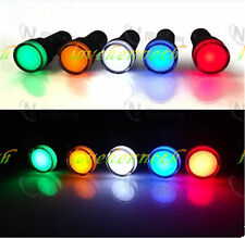 5pcs 22mm LED Indicator Pilot Signal Light Lamp Red Yellow Blue Green White