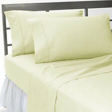 1000TC IVORY SOLID 100%COTTON ALL UK SIZE FITTED/SHEET/DUVET SET/SKIRT