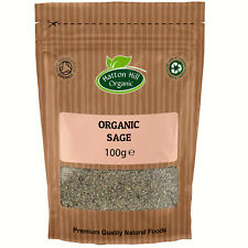 Organic Dried Sage 100g Certified Organic by the Soil Association