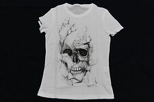 ALEXANDER MCQUEEN T SHIRT SKULL GOING UP IN SMOKE FLAMES NEW AUTH 674