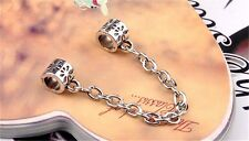 2 Style 18/19/20CM Silver plated Snake Chain Bracelet & Bangle Safety Chain