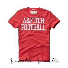 NEW ABERCROMBIE & FITCH MEN * A&F FISH HAWK CLIFF GRAPHIC TEE / T Shirt Red L-XL