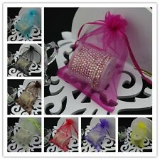 100 17x23cm Organza Bags Jewelry Gift Pouch Bags For Wedding favor,beads,jewelry