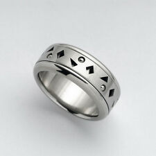 Spinner Ring Stainless Steel Geometric Meditation Band Ring Size 5 6 7 8 9 10-13