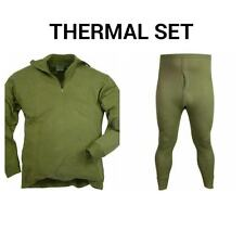 BRITISH ARMY THERMAL SET - NORGI TOP AND LONG JOHN'S - ALL SIZES - COLD WEATHER