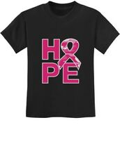 Camo Pink Ribbon Hope Breast Cancer Awareness Youth Kids T-Shirt Support