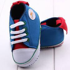 Infant Baby Girl Boy Canvas Walking Shoes 9-12 Months Soft First Shoes Winter