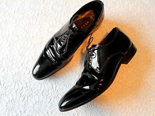 Next Men's Real Leather Black Shoes Size 8 UK/ 42 EUR