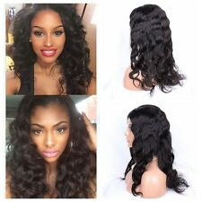 Brazilian Virgin Human Hair Lace Front/Full Lace Wig Glueless Long Natural Wave