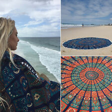 Holiday Travel Gym Camping Bath Pool Cover Ups Floral Print Round Blanket Towel