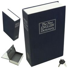 New Home Security Dictionary Book Safe Cash Jewelry Storage Key Lock Box Case