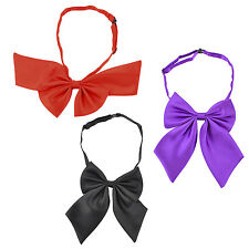 Adjustable Solid Color Bowknot Halter Neck Bow Tie for Women(Black) T1
