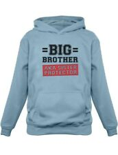 Gift for Big Brother AKA Little Sister Protector Kids Hoodie Boys