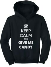 Keep Calm and Give Me Candy Funny Halloween Toddler Hoodie Trick or Treat