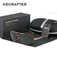 Mens Retro HD Polarized Aviator Driving Sunglasses Brand Designer Shades Goggles