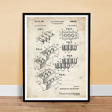 LEGO TOY BUILDING CONSTRUCTION BLOCKS 1961 PATENT PRINT MOVIE POSTER GIFT