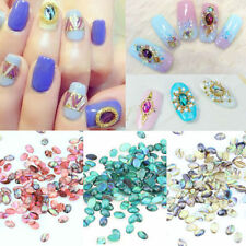 10pcs Nail Art Acrylic Colorful Shell Pattern DIY Decor Jewelry Manicure Beauty