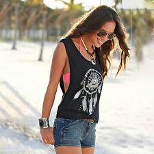 Sexy Womens Summer Casual Vest Top Sleeveless Shirt Blouse Tank Tops T-Shirt New