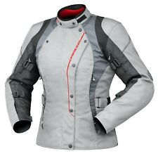 Dririder Vivid Ladies Sports Touring Motorcycle Jacket Crystal Wh/Pk Sizes 6-22