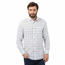Mantaray Mens Big And Tall White Checked Shirt From Debenhams