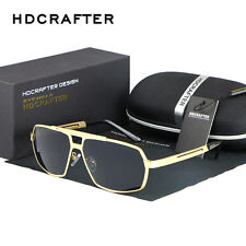 Mens Fashion Polarized Aviator Driving Sunglasses Brand Designer Shades Goggles
