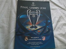 2014 CHAMPIONS LEAGUE FINAL PROGRAMME REAL MADRID V ATLETICO @ LISBON 24TH MAY