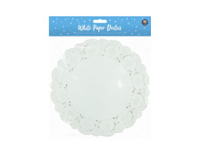 60 X WHITE ROUND PAPER DOILIES (9.5 INCH LACE 25CM)PARTY CELEBRATIONS BIRTHDAY