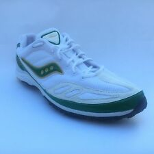 SAUCONY Kilkenny Racing Flats Spikes Mens Track Shoes WHITE GREEN YELLOW New NIB
