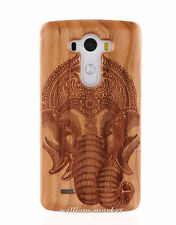 Genuine Natural Carved Bamboo Wood Wooden Hard Cover Case for LG G4/G3/G2 Cover