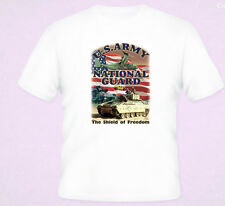 US Army National Guard Shield OF Freedom T-Shirt White S-5XL NEW
