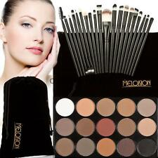 15-Color Earth Colors Shimmer Eyeshadow Palette+20Pcs Eyebrow Eye Shadow Brushes