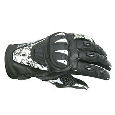 Dririder Stealth Leather Summer Sport Touring Glove Ladies White / Black S - L