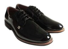 NEW MENS LACE UP PATENT OXFORDS CLASSIC LEATHER LINED DRESS SHOES FORMAL BLACK