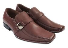 NEW *DELLI ALDO* MENS DRESS SHOES LOAFERS SLIP ON COMFORT LEATHER LINED BROWN