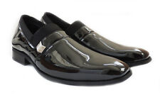 NEW COMFORT MENS PATENT CLASSIC DRESS SHOES LOAFERS SLIP ON LEATHER LINED BLACK