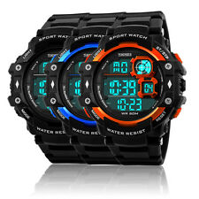 Men's Digital LED Alarm Date Military Outdoor Sport Army Quartz Watch Waterproof