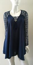 Urban Outfitters Ecote Tunic Top Lace-Up Neckline Teal Size XS,S,M NWT
