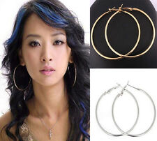 10Pcs Fashion Women Large Round Hoop Earring Hook Finding 50mm 70mm 80mm