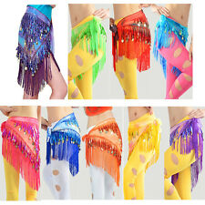 1Pc New Belly Dance Costume Hip Scarf Tribal Triangle Tassel Belt&Gold Coins
