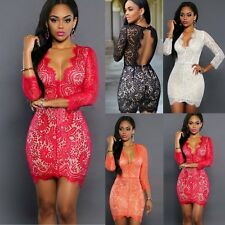 Sexy Women's Summer Bandage Bodycon Lace Slim Evening Party Cocktail Mini Dress