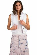 Standards & Practices Women's Stretch Twill Optic White Sleeveless Cropped Vest