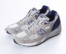 MENS NEW BALANCE 991 M991CBL GREY BLUE MADE IN USA RUNNING SHOES SZ 7-10.5