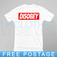 DISOBEY OBEY lAST KINGS TRAPSTAR OBEY WASTED YOUTH COMME DES T SHIRT