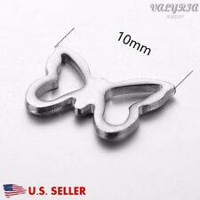 Wholesale Stainless Steel Butterfly Connector Charms Jewelry Findings 10x7mm