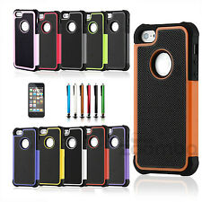 Shockproof Hybrid Rugged Rubber Hard Case Cover Skin for Apple iPhone 5 5S