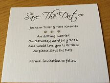 BEAUTIFUL PERSONALISED SAVE THE DATE CARDS-Bethany Range X 25