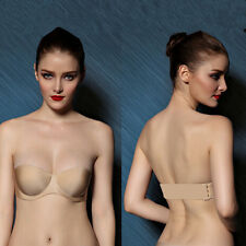 Underwear Back Straps Push up Invisible Bra Cup Backless Strapless Clear Hot