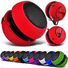 3.5mm Mini Capsule Travel Rechargeable Speaker - Pack of 2