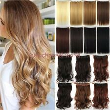100% Natural Thick Clip in Hair Extensions 3/4 Full Head 1 Piece Real Color Hair