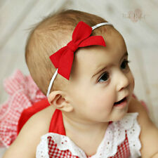 Baby Toddler Girls Headbands Hairbands Elastic Bow Hair Band Accessories
